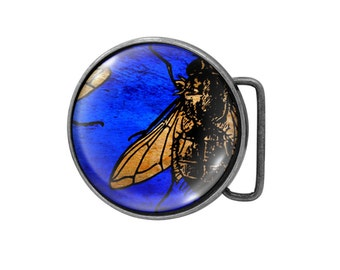 Belt buckle Fly Antiqued Silver Flies Gifts for him Gifts for her