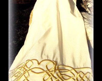 """Celtic Wedding Collection - MADE TO ORDER - Custom Celtic Handfasting Cloth in Silk - """"Celtic Blessings"""""""