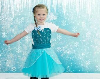 kids  ELSA   apron for  full apron for dress up or baking