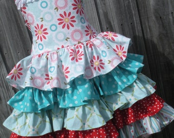 Ready to Ship Custom Boutique Sweet Divinity  5 Ruffle Dress Girl Size  5 6