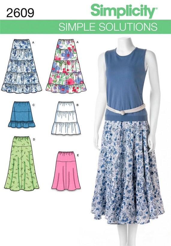 simplicity 2609 tiered skirt pattern maxi skirt pattern