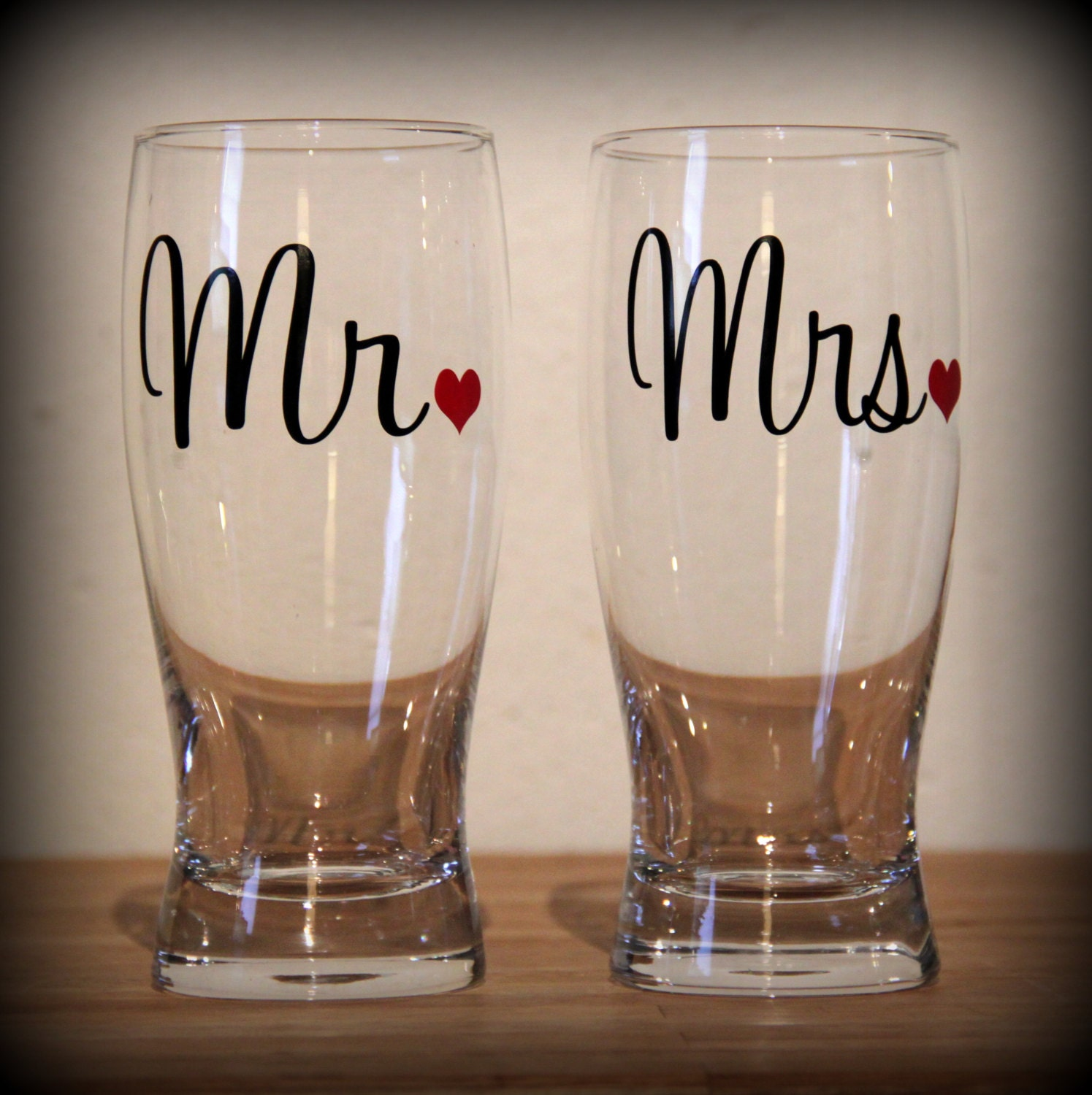 Mr And Mrs Beer Glasses... Perfect Gift For The Newly Engaged
