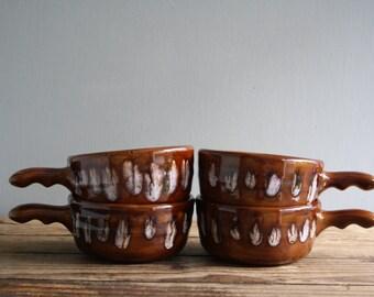 vintage ceramic stoneware soup bowls