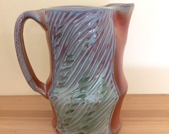Small Carved Green Pitcher