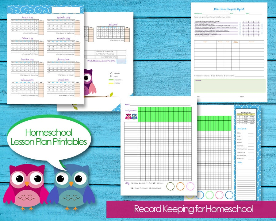 Homeschool Planner Records Attendance Budget Events Grade