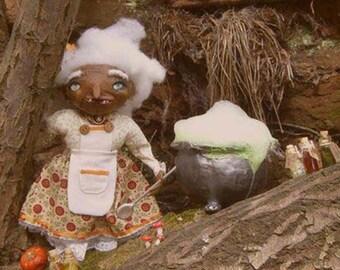 SALE Grandma Goblin - as featured in The Storque ooak handmade art doll