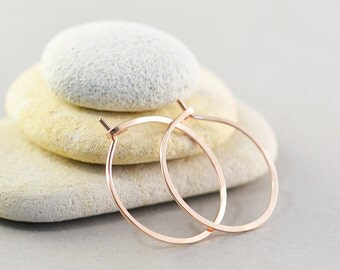 Rose Gold Filled Hoops, Hoop Earrings, Pink Gold Jewelry, Small Hoop Earrings