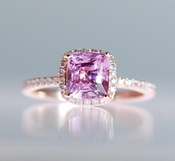 rosa saphir ring 14k rose gold diamant verlobungsring 22 ct. Black Bedroom Furniture Sets. Home Design Ideas
