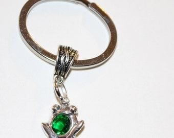 Sterling GREEN FROG Key Ring, Keyring -  Pet, Reptile, Totem
