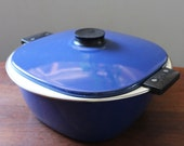Catherineholm Blue Tivoli. Large vintage pot, made in Holland. Rare.