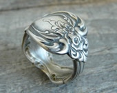 Antique Silver Spoon Ring - One of a Kind
