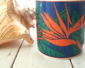 1993 Collectible Souvenir Mug Island Heritage Bird of Paradise