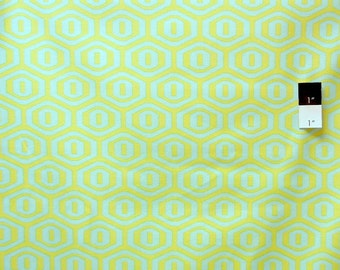 Amy Butler AB25 Midwest Modern Honeycomb Lime Cotton Fabric 1 Yard