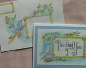 Mail Art Card & Envelope Drawings - Thinking of You
