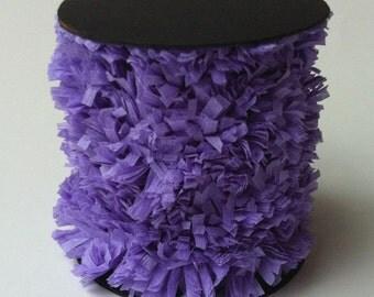 Handmade Crepe Fringe Lavender Purple