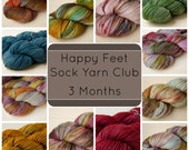 Sock Yarn Club - Happy Feet - 3 Month Subscription
