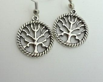 Tree of Life Earrings, Dangle Earrings, Charm Earrings