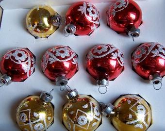 colorful stenciled glass ornaments