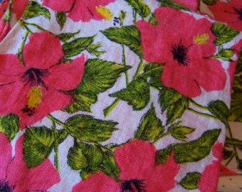 lovely pink flower linen napkins