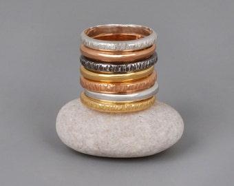 Thin Wedding Band, Women Band Ring, Wedding Rings Set, Minimalist Wedding Ring, Mens Wedding band Ring, Gold, Rose Gold, Silver Stack Ring