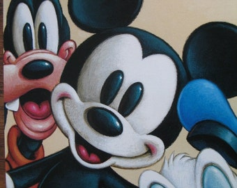 Mickey Mouse and Friends Postcard