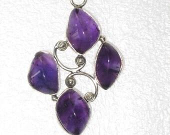 Silver .925 Purple Stone Pendant