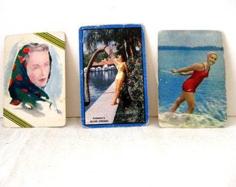 Vintage MId-Century Beautiful Women Cards, Set of 3