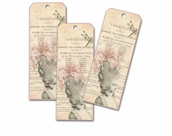 Paris Bookmark, Marie Antoinette Bookmark, Pale Pink Cottage Chic  Bridal Shower Bookmark, Book Club Party Favor, Gifts for Bridal Party,