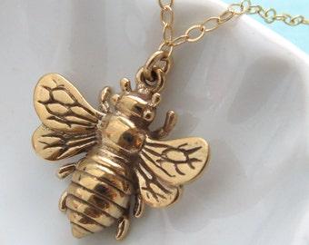 Honey Bee Necklace Queen Bee Jewelry Layering Necklace Bee Lover Nature Lover Inspire Honey Bee Jewelry Layering Necklace Layered and Long