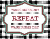 Wash, Rinse, Dry, Repeat Label