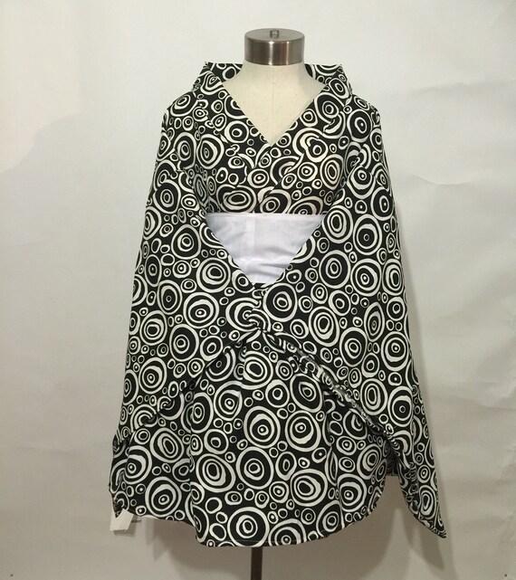 Simple Kimono Dress in Swirl