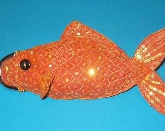 Handsewn Felt Goldfish Coin Purse