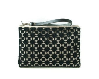 Wristlet, Black Clutch Bag