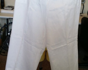 white pants elastic waist size XXL womens vintage 90s summer clothing