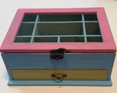 Colorful Shabby Chic Jewelry Box