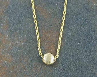Tiny Dot Gold Necklace Tiny Circle Necklace Dainty Necklace Everyday Necklace Simple Necklace Modern Necklace Geometric Necklace
