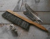 Antique Horse Hair Brush, Vintage Draftman's Brush, Home Decor, Rustic Housewares