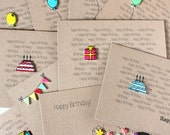 Any Occasion Cards. Pack of 6 Handmade Kraft Cards. Choose your own cards. wedding cards. pack of cards. little silverleaf. Kraft Cards