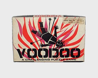 1960s vintage board game / 60s puzzle game / mod / Voodoo Puzzle Game