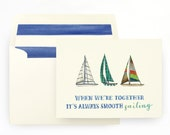 Smooth Sailing Father's Dad Card