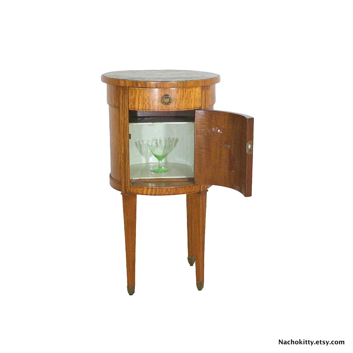 1870s Cigar Humidor Birdseye Maple Side Table By Nachokitty