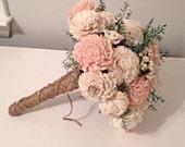 Blush pink Wedding Bouquet - sola flowers - choose colors - bridal bouquet - Alternative bouquet - bridesmaids bouquet