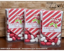 Tic Tac Candy Cane Seeds - Printable - Party Package - Snowmen - Craft Fair - Favors - Party Favors - Winter - Candy - Tic Tacs - Label