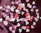 Pinks and Reds Heart Die Cuts Valentine Wedding Table Sprinkles Confetti