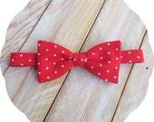 Red Polka Dot Bow Tie >> Self Tie Freestyle Pre-tied Men Boy Baby Adjustable Wedding Easter Gift Birthday bowtie Groomsmen Cherry Father Son