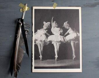 Vintage Ballerina Print - Book Plate - Alicia Alonso, Margit de Kova, Marie-Jeanne in Charade - Ballet Photograph