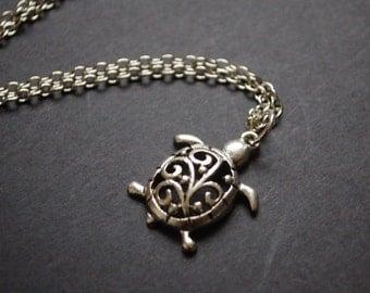 filigree turtle necklace