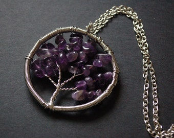 tree of life amethyst necklace