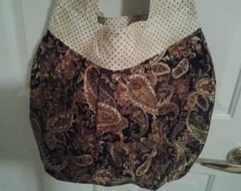 Handmade Birdie Sling Bag Black Gold Cream Brown Amy Butler