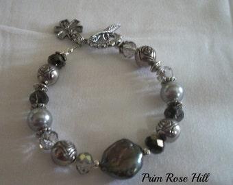 Gray DIABETES Medical Alert Bracelet